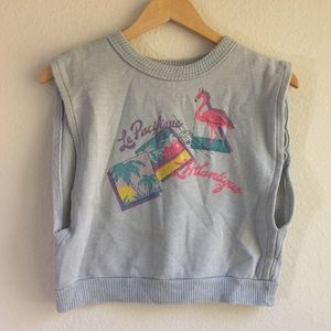 Vintage Cropped Sweatshirt Top